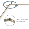 Twist Antique Brass 4-Sided Bay Window Curtain Rod