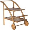 Malika Natural Acacia Tea Cart