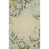 Natural Ornamental Leaf Border Rug 8' x 10'
