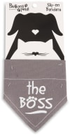 The Boss Small Slip on Pet Bandana