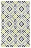 Square Trellis Green Rug 0.75' x 1'