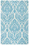 Ornamental Aqua Blue Rug 0.5' x 0.75'