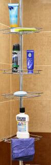 4 Tier White Corner Shower Shelf