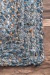 Hand Braided Otelia 5' x 8' Denim Cotton and Jute Rug