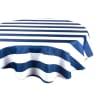 Deep Blue Striped Round 60