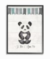 Grayscale Party Panda Framed Giclee Texturized Art