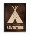 Rustic Adventurer Wood Grain Framed Giclée Texturized Art