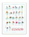Alphabet Icons Wood Plaque Wall Art