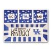 Kentucky Ceramic 4 Section Tailgating Serving Platter