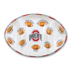 Ohio State Ceramic Football Tailgating Platter