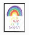 Rainbow Search Framed Giclee Texturized Art