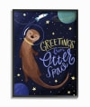 Greetings from Space Large Framed Giclee Wall Art, 16 x 1.5 x 20