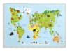 Kids World Map Wood Plaque Wall Art