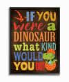 Dinosaur Quiz Framed Giclee Texturized Art