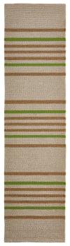Stripe Indoor/Outdoor Rug Green 2' x 8'