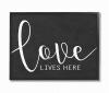 Black and White Love Script Framed Art, 16 x 1.5 x 20