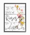 Cursive Wildflower 11x14 Framed Wall Art