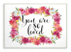 Floral Wreath Love 13x19 Wall Plaque