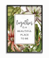 Beautiful Flowers Together 16x20 Framed Wall Art