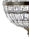 Ant Brass Crystal Chandelier 10in