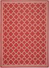 OASIS BORDER 8' X 11' RED POLYPROPYLENE RUG
