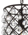 Crystal/Metal LED Pendant, Oil Rubbed Bronze