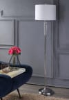 Crystal LED Floor Lamp, Clear/Chrome