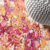 Contemporary Modern Abstract Pink/Orange 8' x 10' Area Rug