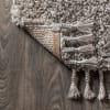 Shag Plush Tassel Grey 4' x 6' Area Rug