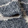 Shag Plush Tassel Moroccan Geometric Trellis Denim Blue/Cream  4' x 6' Area Rug