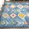 Tribal Love Geometric Dark Blue/Multi 8' x 10' Area Rug