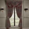 Tamera Red Window Waterfall Valance