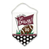 Mississippi State Canvas Football Door Hanger