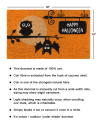 Black Machine Tufted Happy Haloween Owls Doormat, 1'5'' x 2'5''