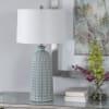 Blue & Cream Ceramic Table Lamp