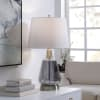 Plated Smoke Glass Body Table Lamp