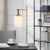 Sphere Shade Hanging from Brass Frame  Desk Lamp