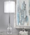 Silver Root With Polished Nickel Finish Table Lamp