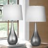 Vintage Metal Modern Set of 2 Table Lamps