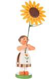 Dregeno Brown Flower Girl Easter Figurine