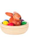 Dregeno Rabbit in Nest Easter Figure