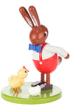 Dregeno Rabbit with Chick Easter Figure