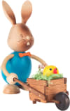 Dregeno Rabbit with Wheelbarrow Easter Figure