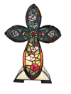 Flora Tiffany Cross Accent Table Lamp