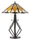 Diamond Flare Tiffany Table Lamp