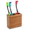 Teak Rectangle Toothbrush Holder