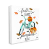 Falling Leaves Pumpkins Please Autumn Bicycle Wall Art