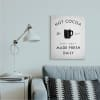 Vintage Style Hot Cocoa Sign Minimal Winter Design Wall Art