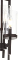 light Metal/Glass LED Pendant, Oil Rubbed Bronze