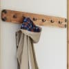 Ryegate Natural Solid Wood with Metal Wall Coat Hook